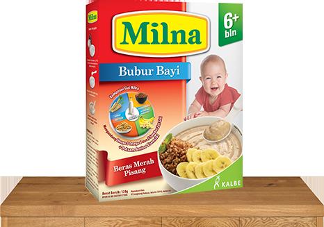 milna bubur bayi 6 bulan beras merah pisang
