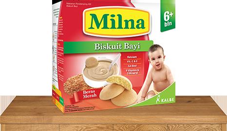 milna biskuit bayi 6 bulan beras merah