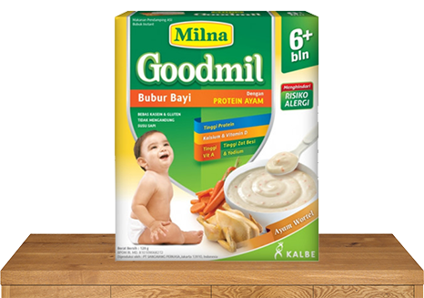 milna bubur bayi goodmil 6 bulan ayam wortel