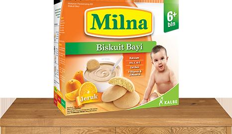 milna biskuit bayi 6 bulan jeruk