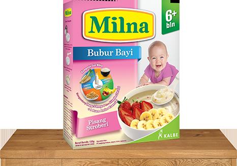 milna bubur bayi 6 bulan pisang stroberi