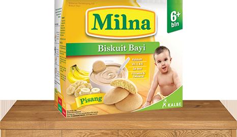 milna biskuit bayi 6 bulan pisang