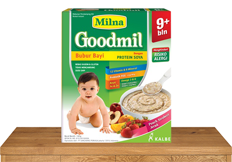 milna bubur bayi goodmil 9 bulan peach strawberry jeruk